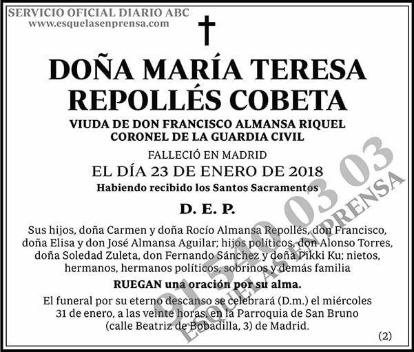María Teresa Repollés Cobeta